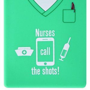 Nurse Silicone Cell Phone Wallet Card Holder